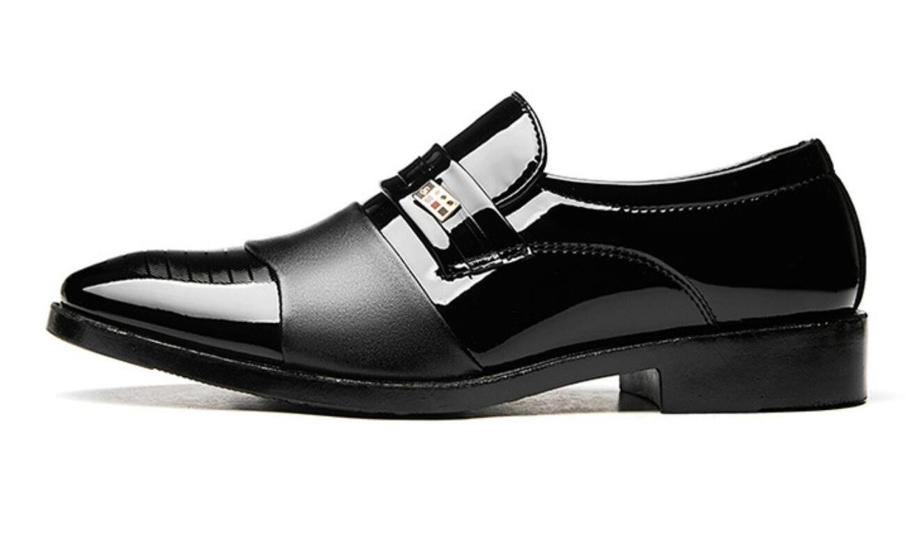 1905b0e7953ba4 XWZG® Business Casual Schuhe Herren Lackschuhe Herren Schuhe für Hochzeit  Große Größe  Amazon.de  Sport   Freizeit