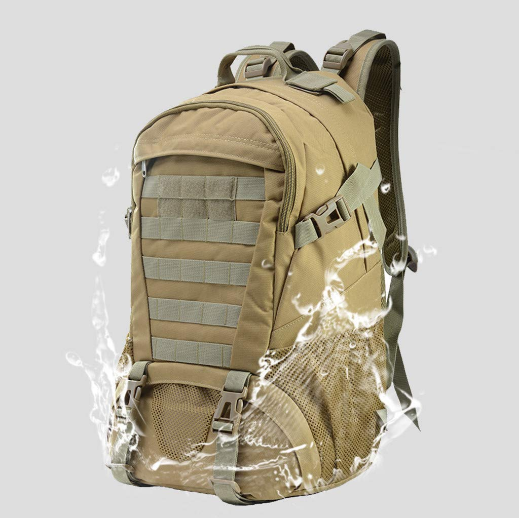 Military Tactical Backpack - 45L Outdoor Waterproof Backpack, Adjustable & Removable Chest Belt and Hip Belt Trekking Backpack, for Camping, Hiking, Trekking (♥ C) by Hisoul (Image #2)