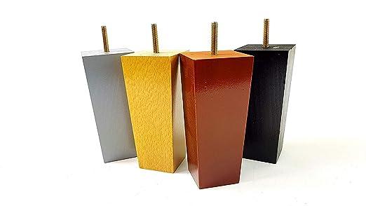 Patas de madera para muebles, 150 mm, varios colores, juego ...