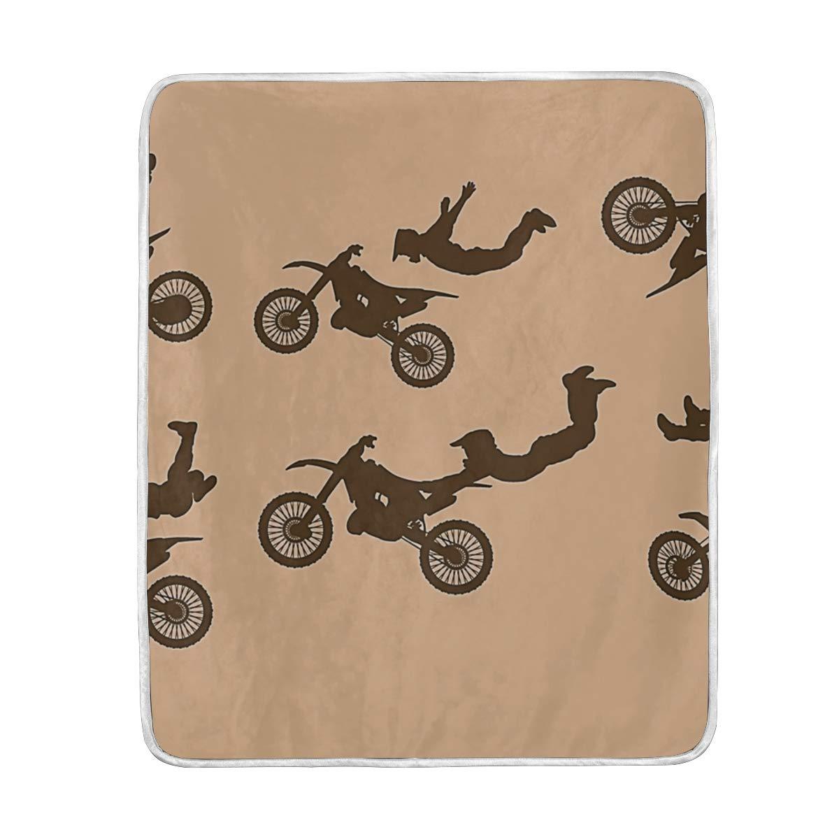 Amazon com: Luxury Fleece Woolen Blanket,Dirt Bikes Free Stitched