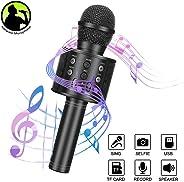 Wireless Bluetooth Karaoke Microphone Linkax Karaoke Machine Handheld Microphone Kids Portable karaoke Home KTV Player Birth