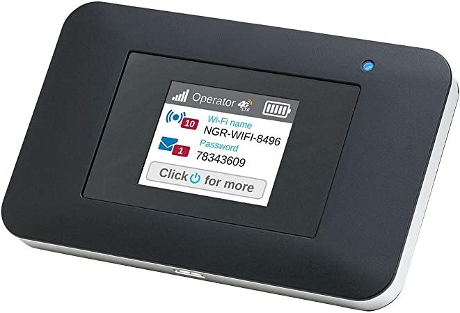 NETGEAR Wifi Portatil 4G AC797, Velocidad hasta 400 Mbps, Conecta hasta 15 Dispositivos WiFi, funciona con cualquier SIM