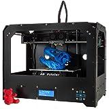 Kit de impresora 3D, Win tinten FDM Pantalla Lcd Impresora 3D de escritorio de madera de alta precisión con 1.75mm Filament SD Card (Tamaño de compilación 225mm * 145mm * 150mm)