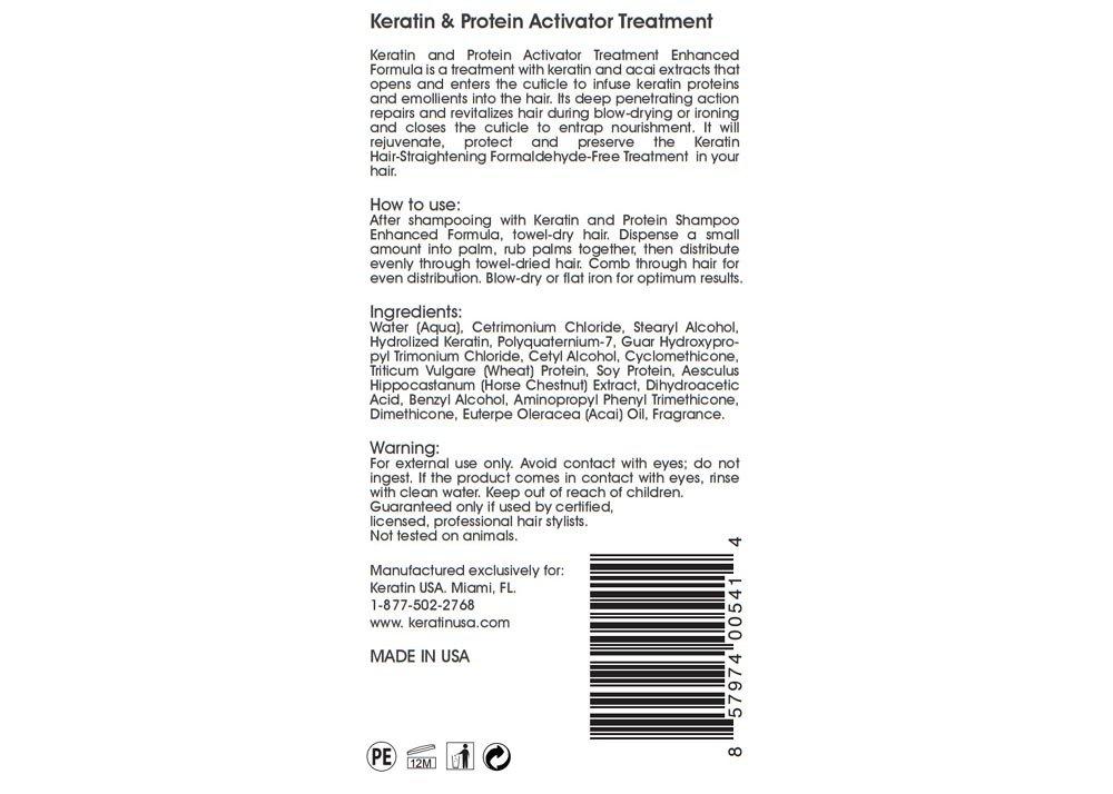 Amazon com : Deluxe Keratin Hair-Straightening Activator Treatment