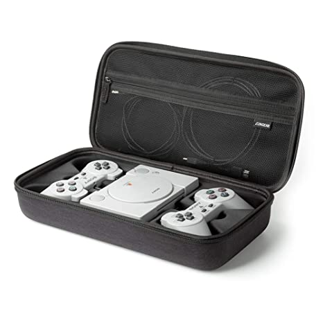 LUNGEAR Carrying Case for Playstation Classic Console, Hard Travel Carry Case Storage for Sony Playstation Classic Console System, Two Controllers and ...