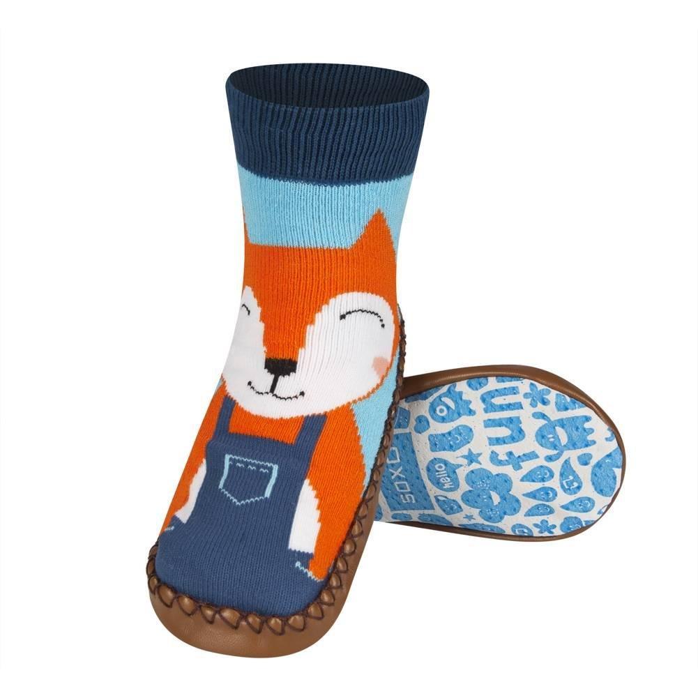 Anti Gute Qualit/ät Unisex Modelle f/ür M/ädchen und Jungen Rutschsohle soxo Baby Socken H/üttenschuh S/öckchen Mit Ledersohle