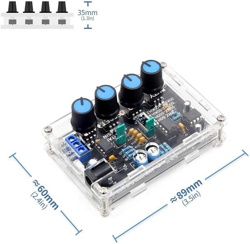 G/én/érateur de signal basse fr/équence WXGY ICL8038 g/én/érateur multifonction /à monter soi-m/ême DC 12 V ~ 15 V pi/èces avec coque XR2206 mise /à niveau