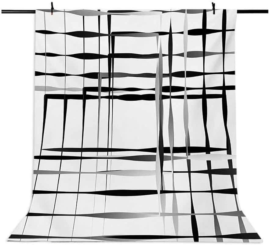 Modern Art 10x12 FT Photo Backdrops,Minimalist Image with Simplistic Spaces and Spare Asymmetric Grids and Lines Background for Baby Shower Birthday Wedding Bridal Shower Party Decoration Photo Studio