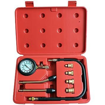 Jago - KPTE01 - Compresómetro para motores de gasolina - 4 adaptadores: Amazon.es: Coche y moto