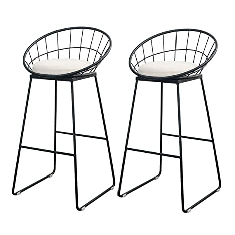 Magnificent Amazon Com Upholstered Bar Stools With Back Counter Height Unemploymentrelief Wooden Chair Designs For Living Room Unemploymentrelieforg