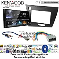 Volunteer Audio Kenwood DMX7704S Double Din Radio Install Kit with Apple CarPlay Android Auto Bluetooth Fits 2012 Honda Civic (Dark Grey Satin)