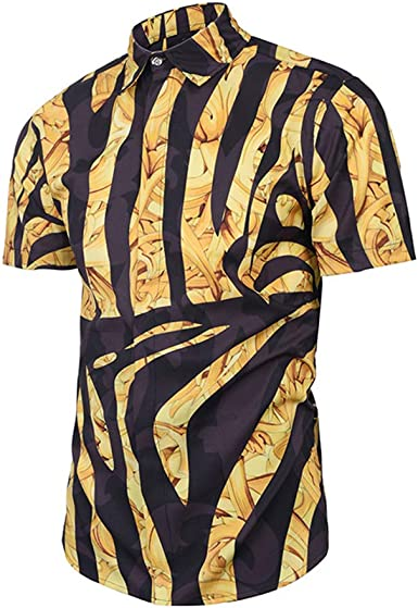 TOOSD Camiseta de polo de los hombres de las camisetas, camisa clásica de contraste cebra patrón 3D impresión digital de manga corta grasa tetona calle casual suelto tops: Amazon.es: Ropa y accesorios