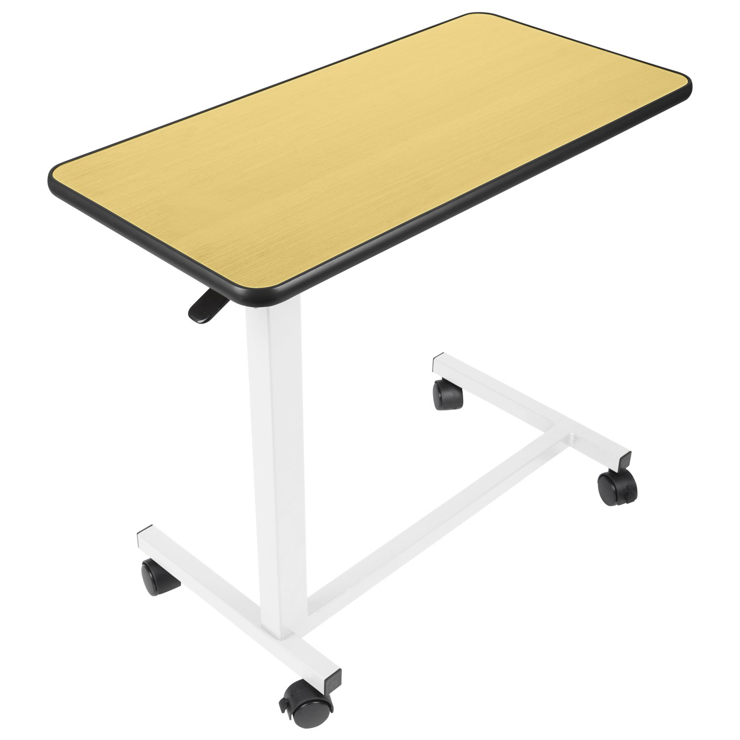 Vive Overbed Table - Swivel Wheel Rolling Tray Table - Adjustable Bed Table for Home or Hospital - Laptop, Reading and Breakfast Cart for Bedridden Patients