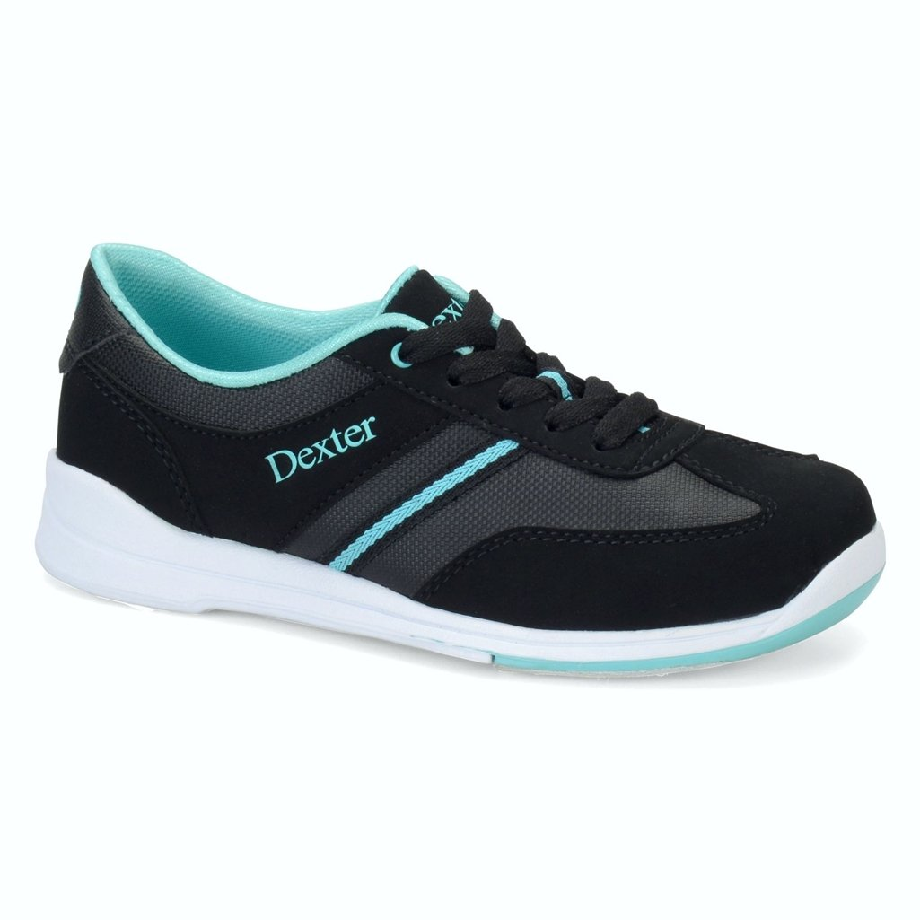 Dexter Womens Dani Bowling Shoes (7 1/2 M US, Black/Turquoise) by Dexter Bowling Shoes