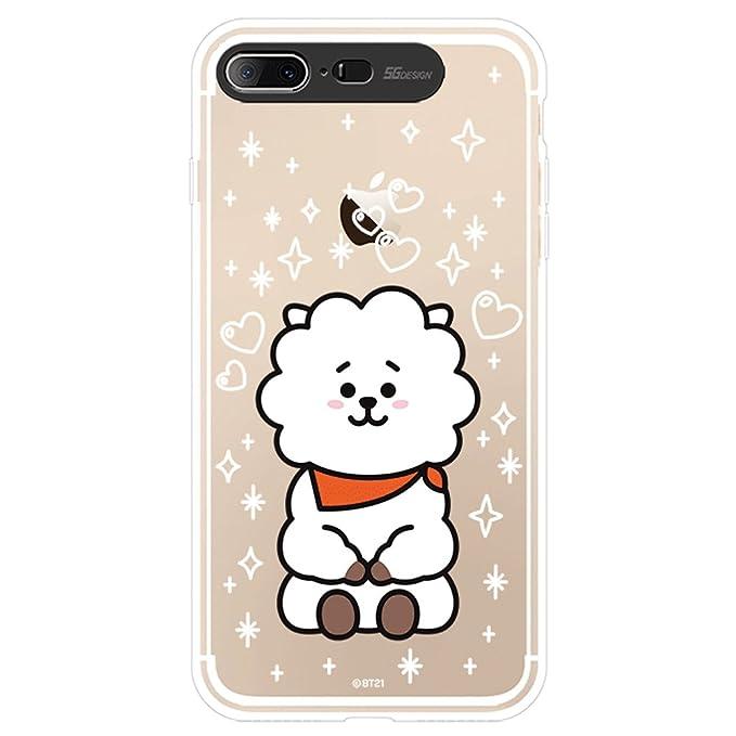 cheap for discount 6fb8f b7560 iPhone 8plus Case/iPhone 7plus Case, BT21 Official Light Up Soft Clear Case  (RJ)