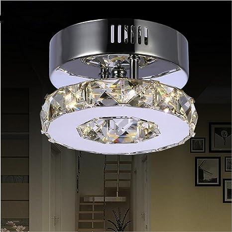 Cristal Cristal Lámparas de techo Acero inoxidable ...