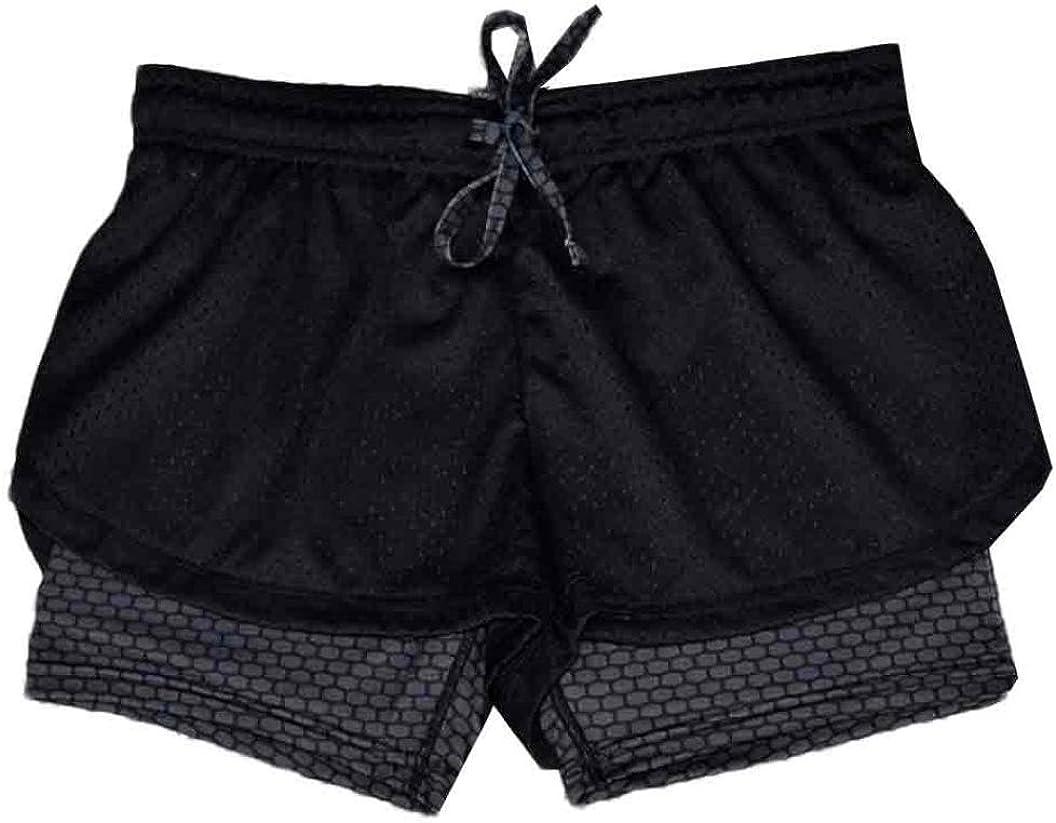 Bright/_99 Sommer Sport Hot Pants Shorts Damen Kurze Hosen Trainingshose den Strand Bermuda l/ässige Hose Mit Gitter Yoga Sporthose f/ür Damen