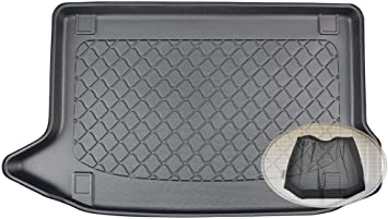 Zentimex Z3292938 Gummierte Kofferraumwanne Fahrzeugspezifisch Klett Organizer Laderaumwanne Kofferraummatte Auto