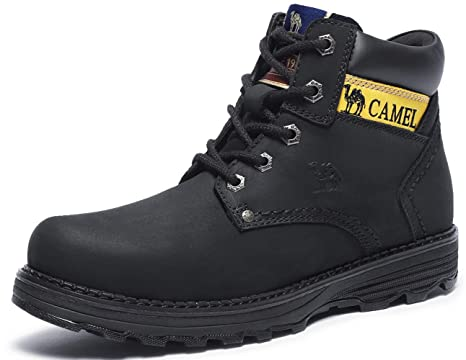 Camel Mens Work Boots Safety Toe Leather Insulated Industrial Boot and  Non-Slip Warm High a3e054e26921
