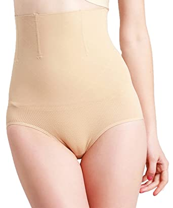 962385131a6 Moon Angle Waist Trainer Control Pantie Women Hight Waist Slim Panties  Shapewear - Beige - X-Large XX-Large  Amazon.co.uk  Clothing