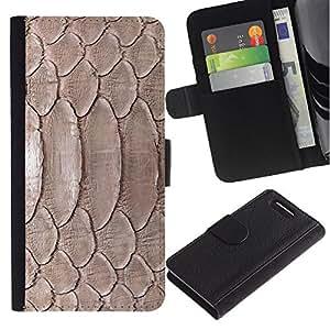 Paccase / Billetera de Cuero Caso del tirón Titular de la tarjeta Carcasa Funda para - Nature Reptile Skin Snake Brown Wallpaper - Sony Xperia Z1 Compact D5503