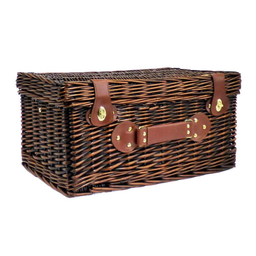 in vimini con scomparto fresco Cesto da Picnic Bromley colore: Marrone scuro con scomparto refrigerante per 4 persone