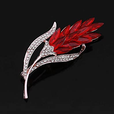 : Colors Crystal Rhinestones Wheat Brooch Pins for