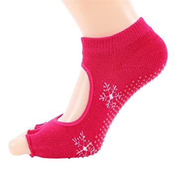 Maybesky Calcetines de Yoga Sra. Leakage Five Fingers Algodón Sweat Sweat Fingers Calcetines Deportivos Pilates