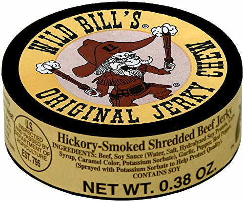 Wild-Bills-038oz-Hickory-Smoked-Shredded-Beef-Jerky-Chew-12-cans-of-beef-jerky-chew-per-bag