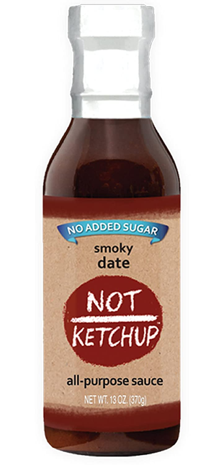 Smoky Date Paleo BBQ Sauce, No Added Sugar, Gluten Free, All Natural, Dipping, Grilling and Marinating Sauce, 13 oz Bottle
