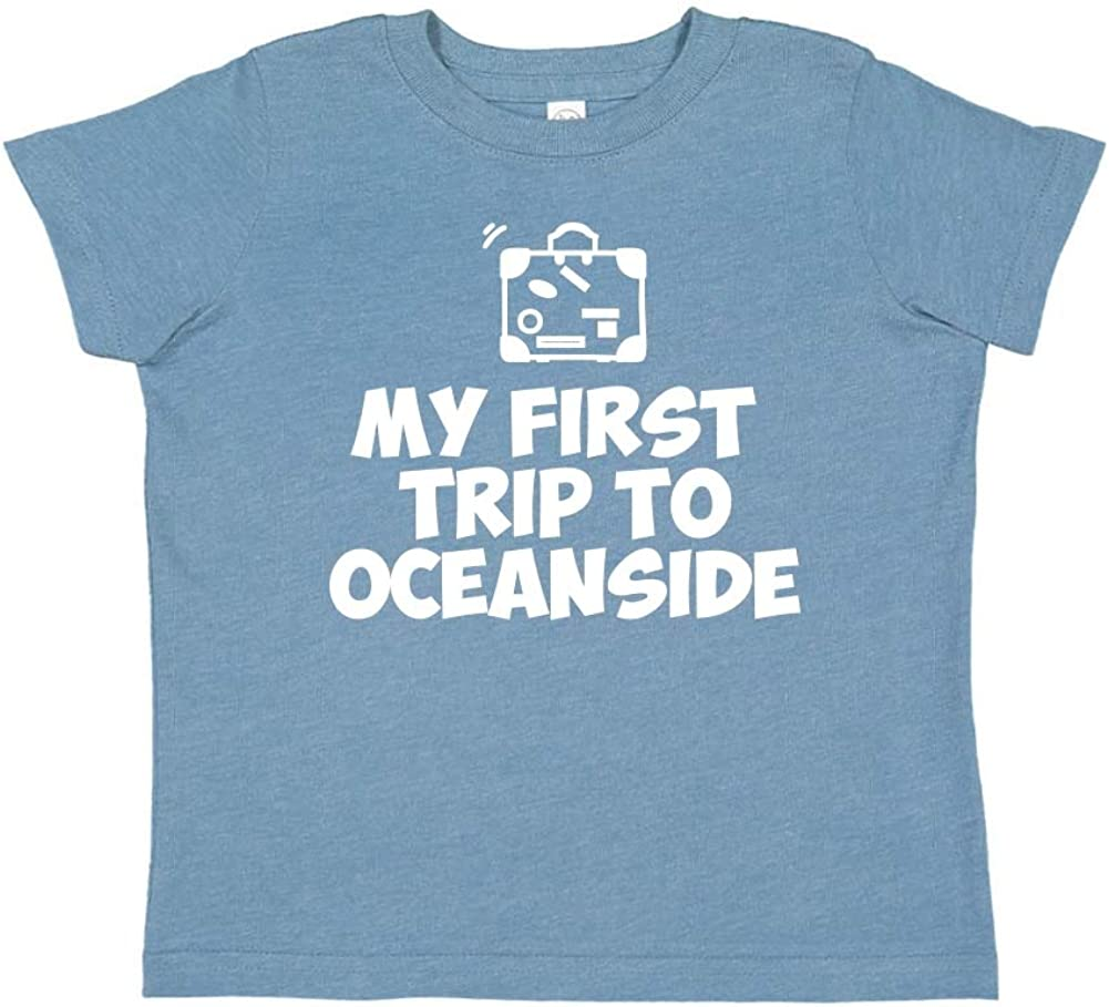 Mashed Clothing My First Trip to Oceanside Toddler//Kids Short Sleeve T-Shirt