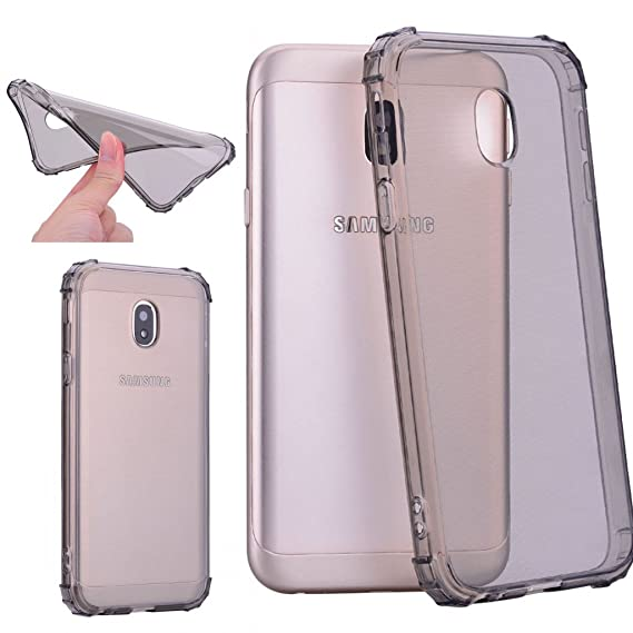 purchase cheap 6868b 1b99b Amazon.com: Galaxy J7 Pro Case,Stingna Transparent Clear TPU Frame ...