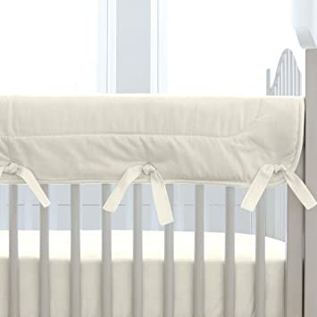Carousel Designs Solid Ivory Crib Rail Cover