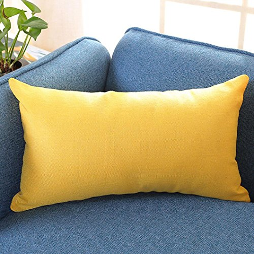 Iuhan Fashion Solid Color Geometry Rectangle Cushion Cover T