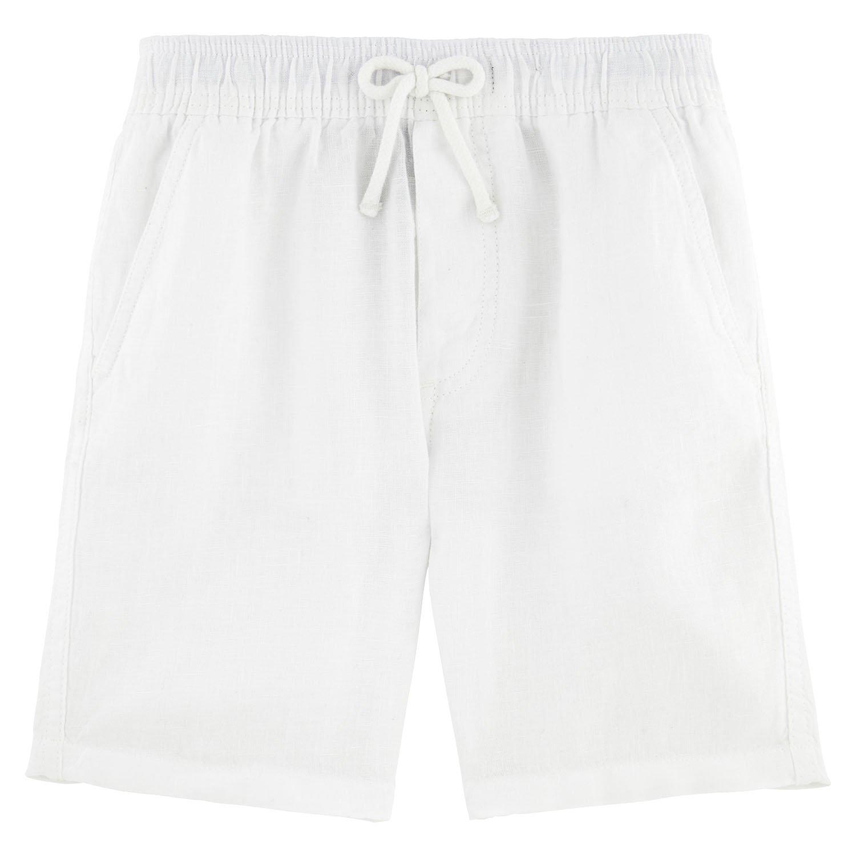 Vilebrequin Solid Linen Bermuda Shorts - Boys - White - 8