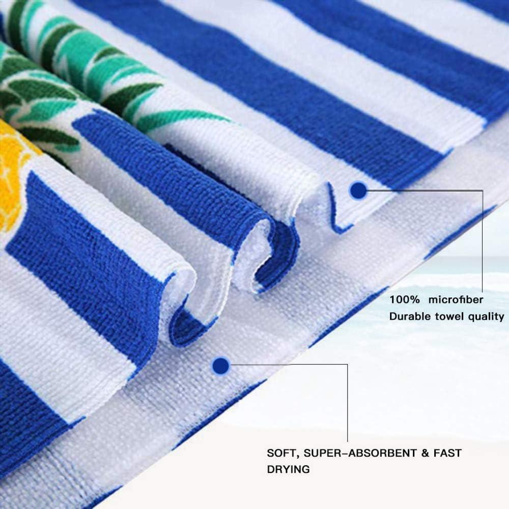 Yoga Sport 70 * 150cm,Verde Rettangolo Antisabbia Beach Coperta da Spiaggia Tovaglia in Telo da Mare Nuoto Fansu Telo Spiaggia Microfibra Grande Assorbente Serie di Fenicotteri Rosa