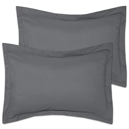 Decorative King Pillow Shams.Us Merchant King Pillow Shams Set Of 2 Pillow Shams King Size 20x36 Dark Grey Soft Hypoallergenic Natural Cotton Geniune 600 Tc King Size Decorative
