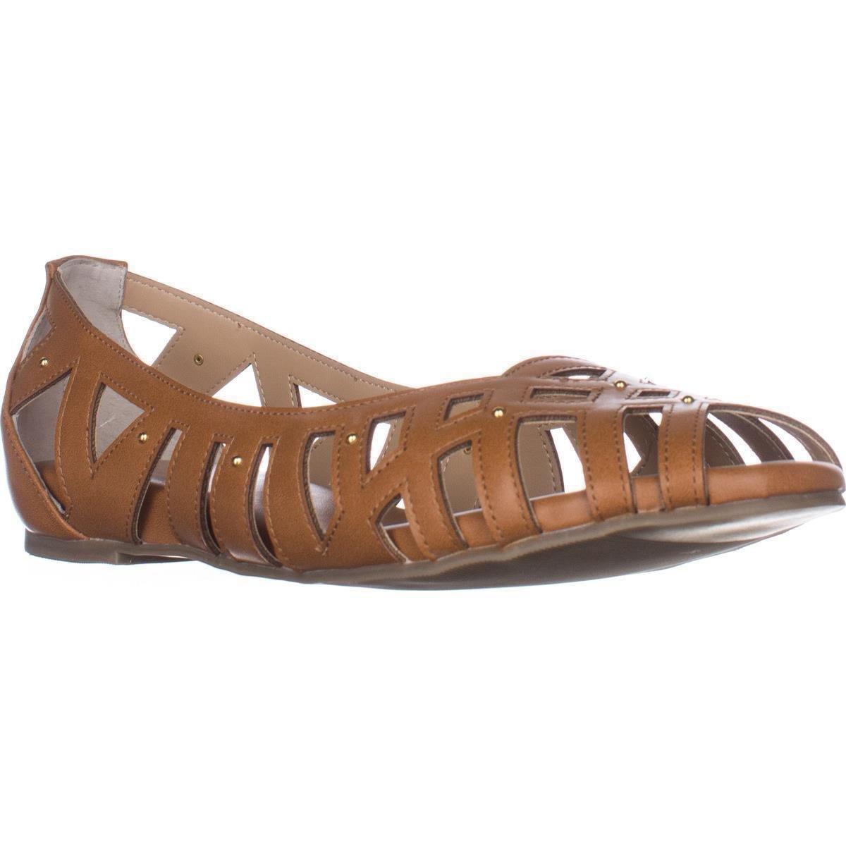 Thalia Sodi Womens Zuly Peep Toe Loafers B079K3JNRS 7 B(M) US|Cognac