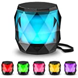 LED Bluetooth Speaker,LFS Night Light Wireless Speaker,Untra Mini Speaker,Diamond Shape Portable Wireless Bluetooth…