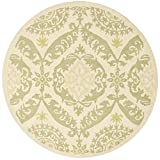Cheap Safavieh Chelsea Collection HK356C Hand-Hooked Beige and Green Premium Wool Round Area Rug (4′ Diameter)