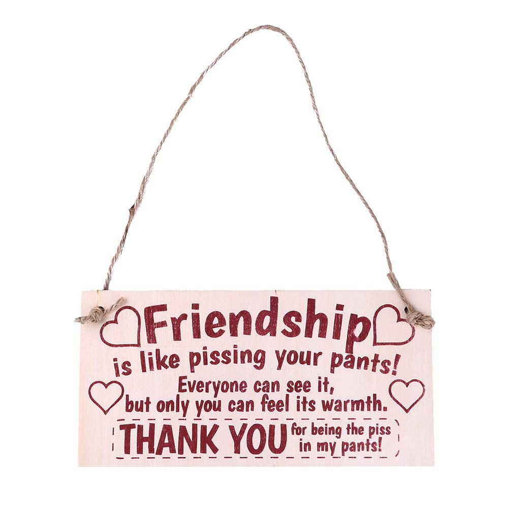 Sign Board, Best Friend Friendship Gift,Outsta Chic Spending Heart Thank You Decoration Merry Christmas Accessory (B)