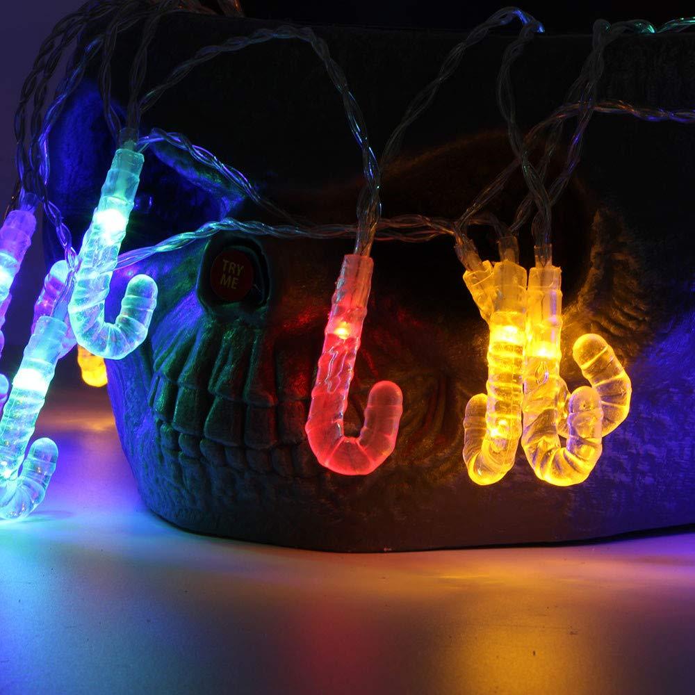Anglewolf 1,2 m 10 luces LED de cadena exterior hada ...