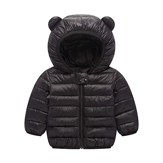 9ac228681e01 Amazon.com  BSC007 Baby Boys Girls Winter Coats Hoods Light Puffer ...