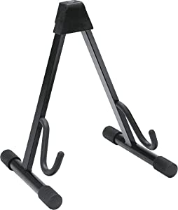 K&M 17540B Guitar Stand, Heavy Duty A Frame, Electric, Black (17540.013.55)