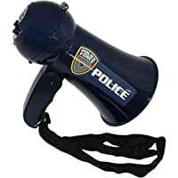OIG Brands Police Megaphone Toy for Kids - FBI, SWAT, and Detective Costume Role Play Microphone (Batteries Included)