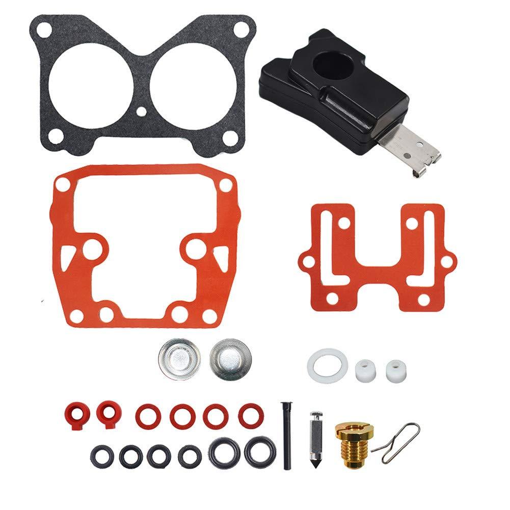 WFLNHB 2 PCs for Johnson Evinrude Carb Carburetor Repair Kit 439076 Crossflow V4 V6