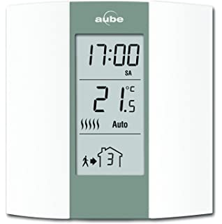 Aube TH136 Termostato programable, Crema y gris