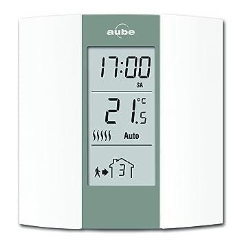 Aube TH136 Termostato programable, Crema y Gris: Amazon.es: Bricolaje y herramientas