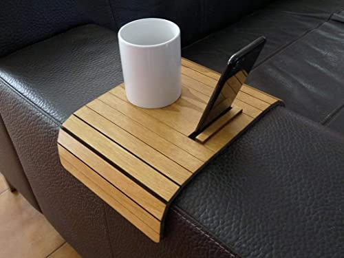 Fabulous Amazon Com Wooden Sofa Armrest Table With Iphone Stand In Squirreltailoven Fun Painted Chair Ideas Images Squirreltailovenorg