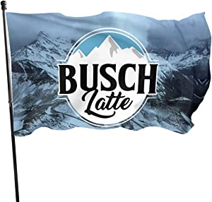 668 Busch Latte Busch Light Flag Cool Beer 3 X 5 Ft for Outdoor House Porch Decoration Sunset Hikers Flags Banner